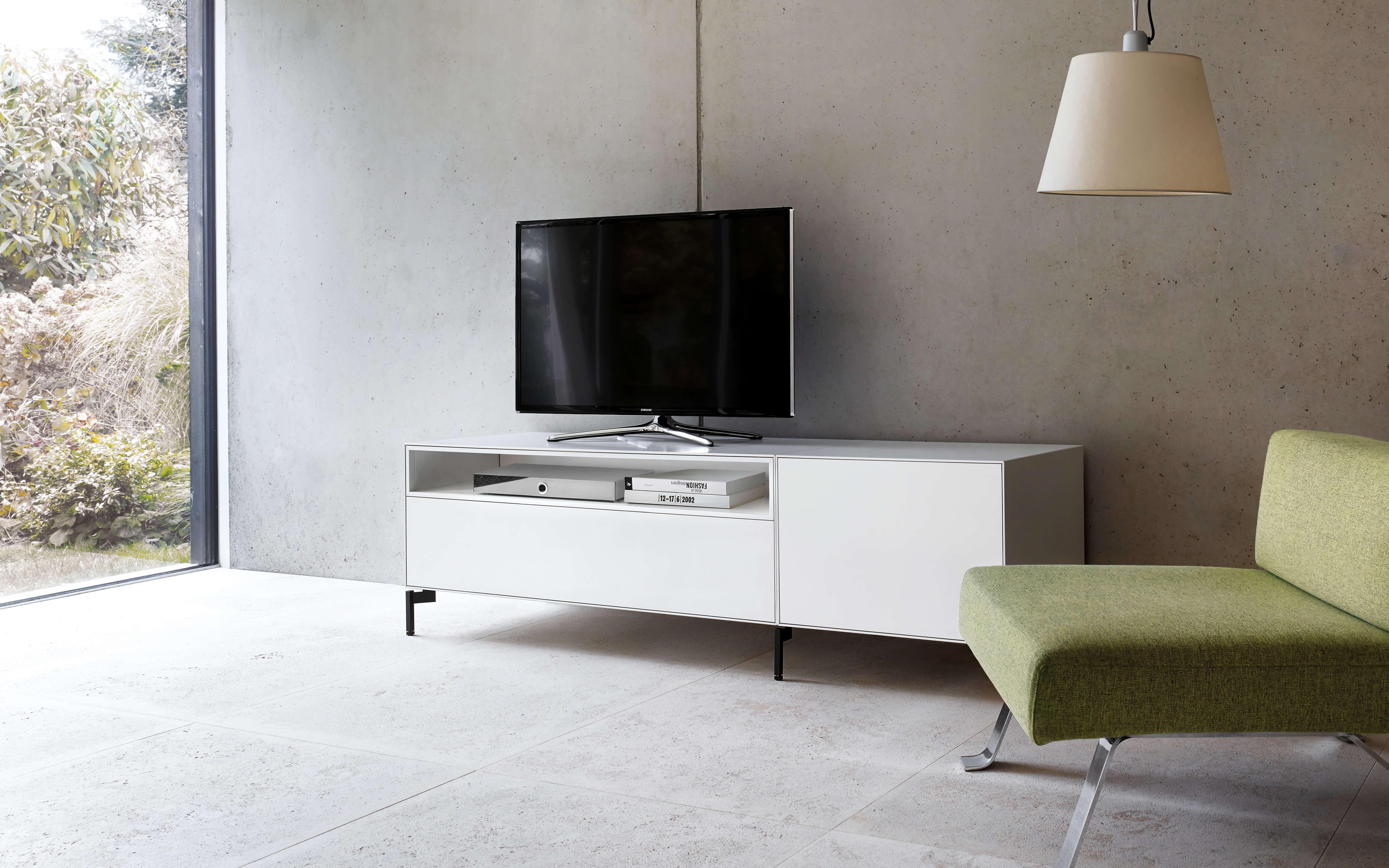 Piure Creating Living Space Sideboard Nex Line Regal Flex Puro